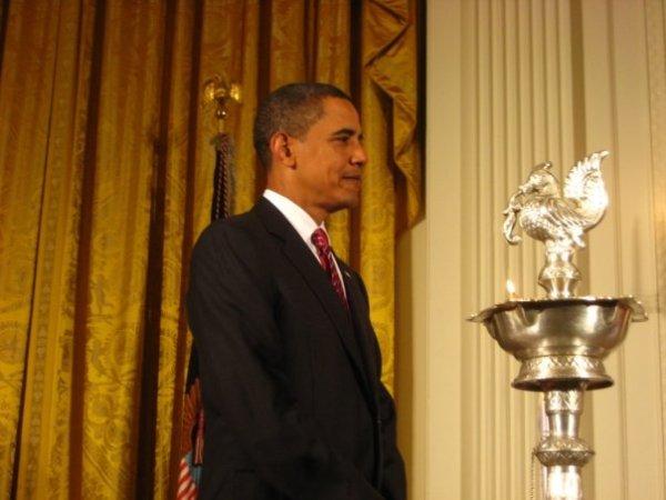 President Obama Lights White House Diya
